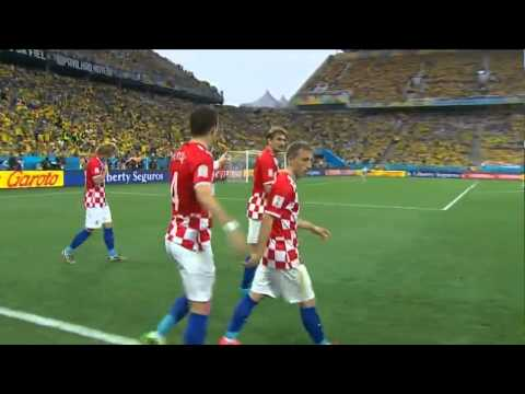 Brazil-Croatia 0-1 Marcelo Own Goal !!! (World Cup 2014)