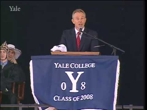 Tony Blair Addresses the Yale College Class of 2008