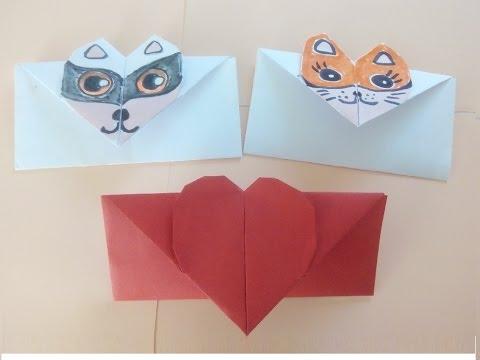 Origami Briefumschlag Falten Einfaches Diy Kuvert Basteln Mit