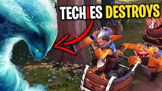 Techies Destroys Morphling - DotA 2 Funny Moments