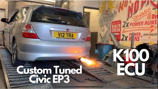 Honda Civic Ep3 Type R Custom Tune  with Flames