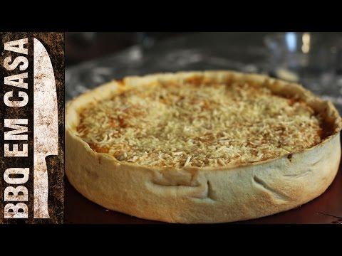 RECEITA DE PIZZA ESTILO CHICAGO