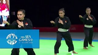 Pencak Silat Artistic Female Team - Regu Finals 1st Placing  (Day 5) | 28th SEA Games Singapore 2015
