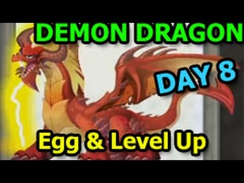 DEMON DRAGON Dragon City Dungeon Island Egg & Level Up Review DAY 8