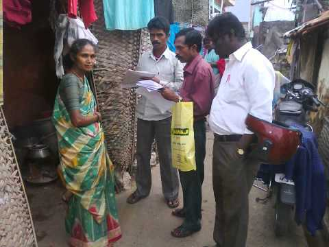 Global vision work for slum survey in salem Area