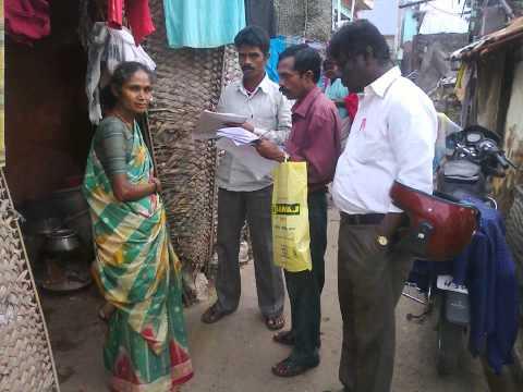 Global vision work for slum survey in salem Area