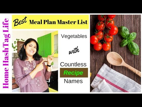 The Best Master List for Indian Meal Planning | Daily Cooking Recipes | Home Hahstag Life