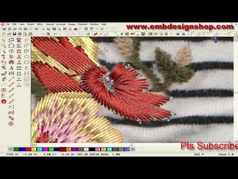 Wilcom software Embroidery Design | Hand Embroidery Designs | Embroidery Digitizing Tutorial(pat-38)