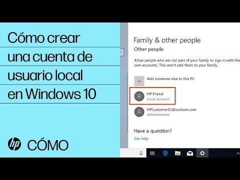 Cómo crear una cuenta de usuario local en Windows 10 | HP