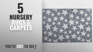 Top 10 Nursery Rugs & Carpets [2018]: Kit for Kids Nursery Rug, Grey with White Stars