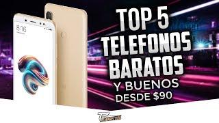 TOP 5 MOVILES BUENOS, BONITOS Y BARATOS DESDE $90 | MEJORES GAMA MEDIA CALIDAD PRECIO 2018