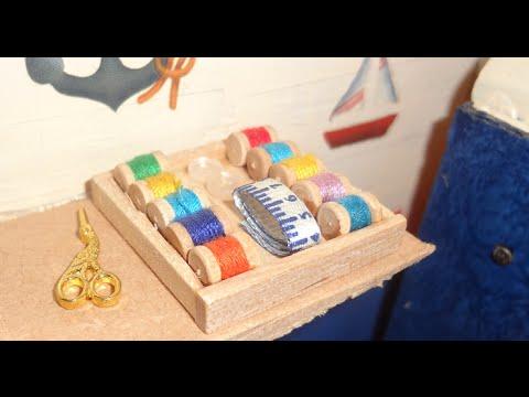 Tutorial c mo hacer madejas de hilo para tu casa de mu ecas barbie miniatura youtube - Como hacer muebles para casa de munecas ...