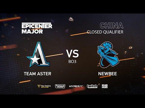 Team Aster vs Newbee, EPICENTER Major 2019 CN Closed Quals , bo3,game 2 [Jam  & Inmate]