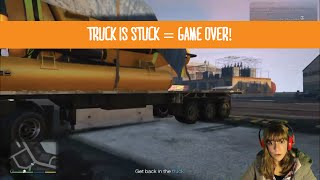 GTA 5: Truck is stuck = GAME OVER