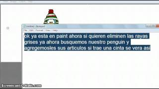 Como Hacer Un Pinguino Animado de Club Penguin En Paint