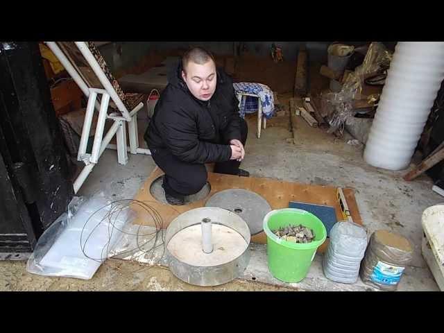 Как сделать на штангу блины в домашних условиях