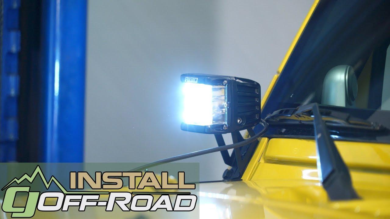 Jeep Wrangler Jk Rigid Industries Spot Light Led Dually Pro D Ss Side Shooter