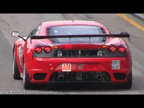 Ferrari F430 GT2   LOUD Acceleration SOUNDS!! | How To ... Ferrari F430  Back Fire ...