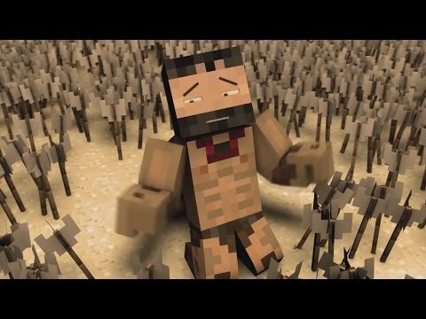 Minecraft Animation: 300 Movie Parody!