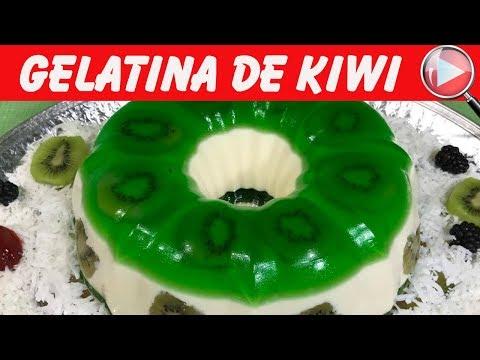 Gelatina de Kiwi con Yogurt Natural - Delicioso Postre - Recetas en Casayfamiliatv