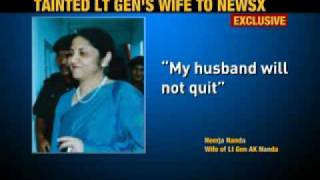 Lt Gen Nanda's wife denies allegations
