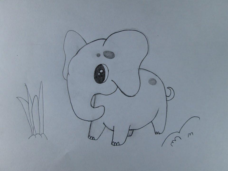 C mo dibujar un elefante versi n para ni os youtube - Fotos de elefantes bebes ...