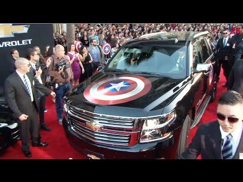 Captain America Winter Soldier Red Carpet Movie Premiere & Chevrolet