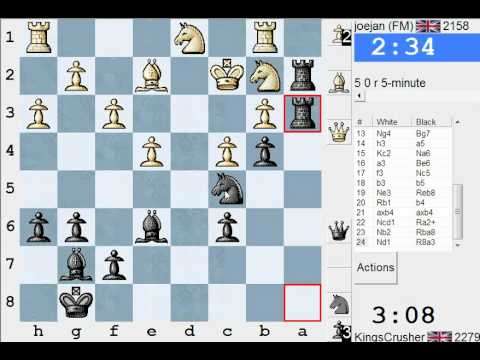 Chess World.net: LIVE Blitz #1767 vs joejan (2158) - King's Indian: Andersson variation (E92)