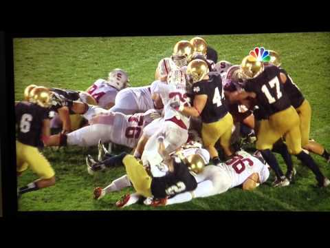Notre Dame's Goal-Line Stand A... is listed (or ranked) 13 on the list The Biggest Plays of 2012