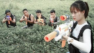 Nerf War Game : Special Police SWAT Nerf Guns Fight Attack Group Crime Of Dangerous