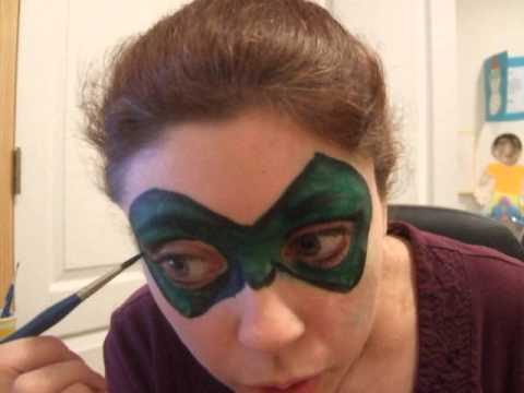 Green lantern mask face paint - photo#11