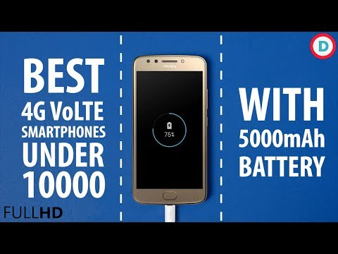 Best 4G VoLTE Smartphone with 5000mAh Battery Under 10000 | 2017