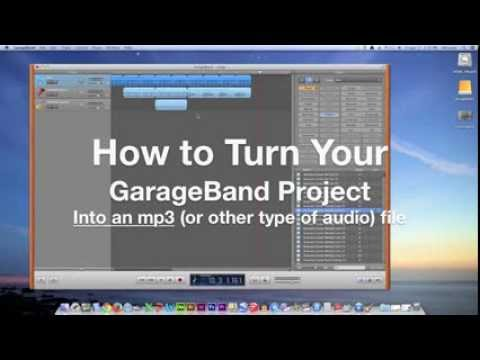 How to turn a GarageBand project into an MP3