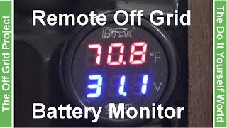 Wiring 24 Volt Digital Volt Meter Into Our Off Grid Solar Power System