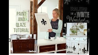 Chalk Paint and Glaze Buffet Makeover Tutorial