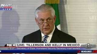 WATCH: President Donald Trump's Top Cabinet Members In Mexico Talking Illegal Immigration
