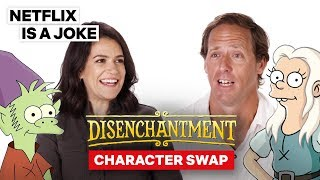 Abbi Jacobson & Nat Faxon Voice Each Other's Characters | Disenchantment | Netflix Is A Joke