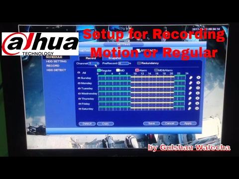 Dahua DVR Recording Setup Regular or Motion Recording Setting Dahua Part-4