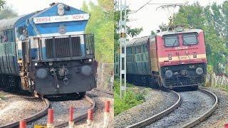 Chennai Sathya Sai Prashanthi Nilayam Express - WDP-4 vs WAP-4 [HD]