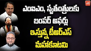 TRS ,Congress Bumper Offers To AIMIM And Independents | Telangana Assembly Election Results | YOYOTV