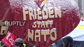 Germany: Anti-war protesters rally at Munich Security Conference
