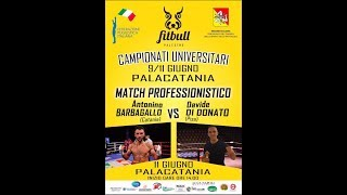 MATCH PROFESSIONISTICO BARBAGALLO VS DI DONATO