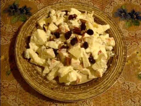 Receta de ensalada de manzana navideña