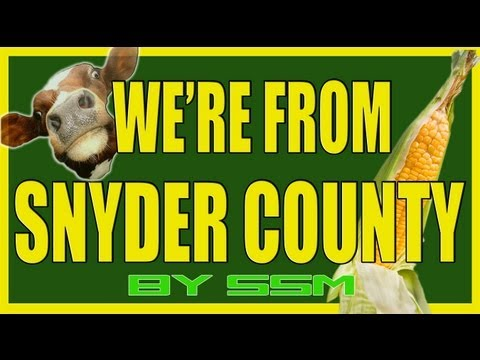 "OUR FACEBOOK: http://www.facebook.com/sloppysecondzmusic Sloppy Secondz presents ""We're From Snyder County"" Another official music video! We love Snyder County Pennsylvania! Parody of..."