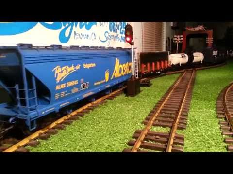 G Scale Aristocraft Freight Train/CP/BC/BNSF (HD) Barrys Trains Trolley/Imagination Station Kids 2
