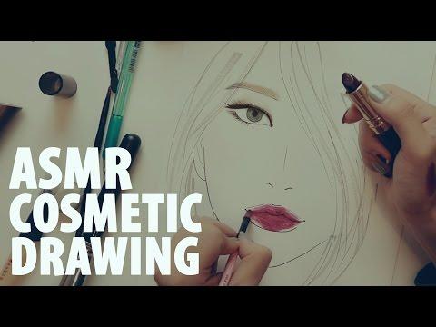 한국어 ASMR 화장품으로 그림그리기 Drawing Facechart  Korean ASMR(Binaural)