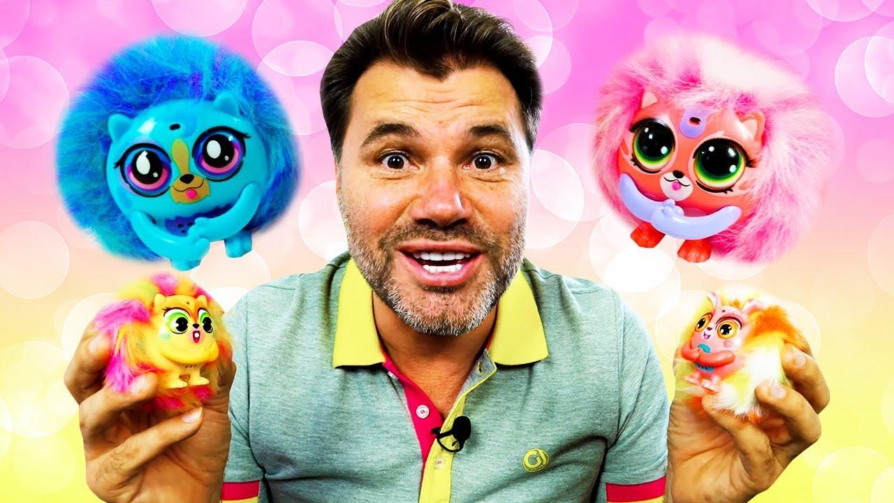 Игры в игрушки для девочек. Малютки Tiny Furries! Новое видео для детей.