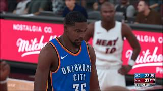NBA 2K18 PS4 - All Time Heat vs All Time Thunder