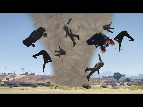 INSANE TORNADO MOD! (GTA 5 Mods Funny Moments)