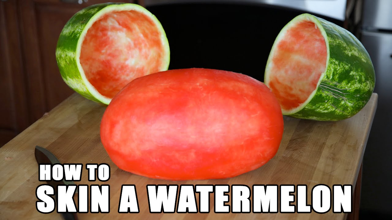 Want To Perfectly Skin A Watermelon? Here's How To Do It